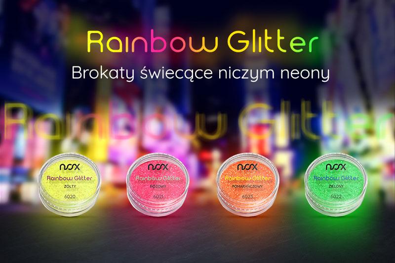 Neonowe brokaty Rainbow Glitter