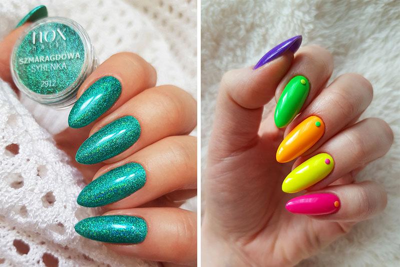 Modne paznokcie na 2020 neonowe wzory i kolory