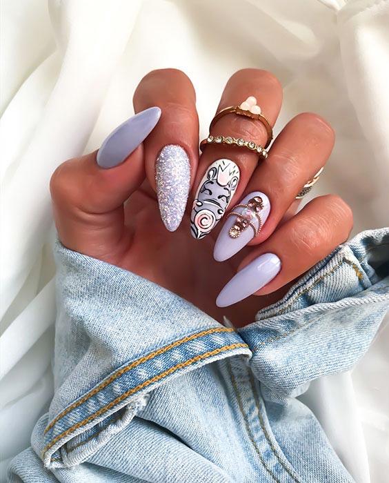 Wrzosowe paznokcie na lato