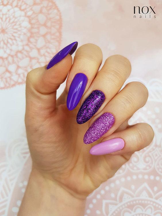 Fioletowe paznokcie na jesień