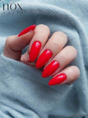 Czerwone paznokcie hybrydowe